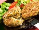 Рецепта Пържени кюфтета от картофи, царевица и риба тон